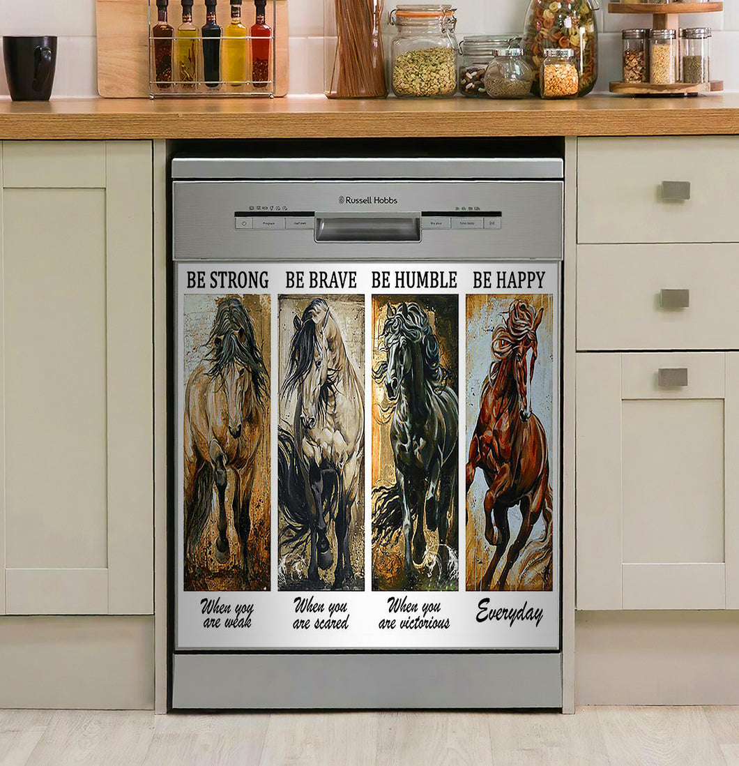 Horse Be Strong Decor Kitchen Dishwasher Cover
