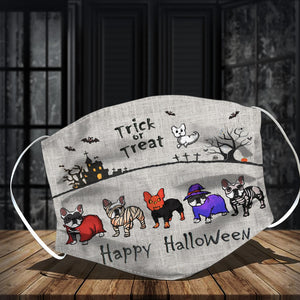 Frenchie Trick Or Treat Halloween Face Mask