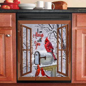 Winter Cardinal Iam Always With You Decor Kitchen Dishwasher Cover