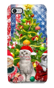 Cat Under Christmas Tree Blanket