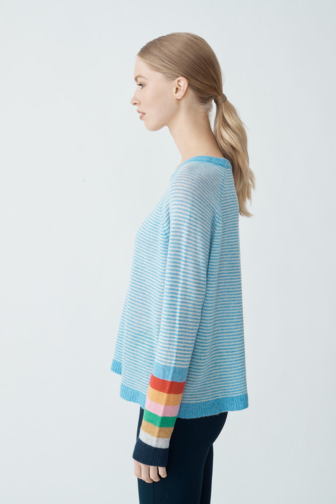 Load image into Gallery viewer, Life Saver Sweater - Blue Ash
