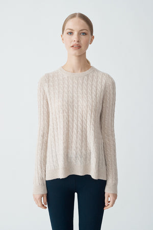 Cindy Cable Sweater - Blush