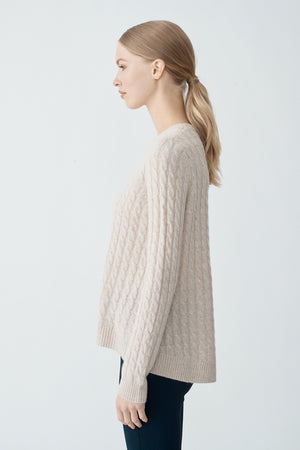 Cindy Cable Sweater - Oatmeal