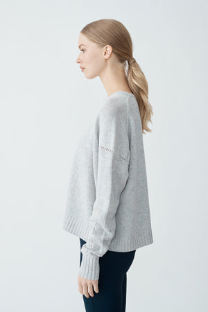 Load image into Gallery viewer, Isabella Crop Sweater - Fly Ash