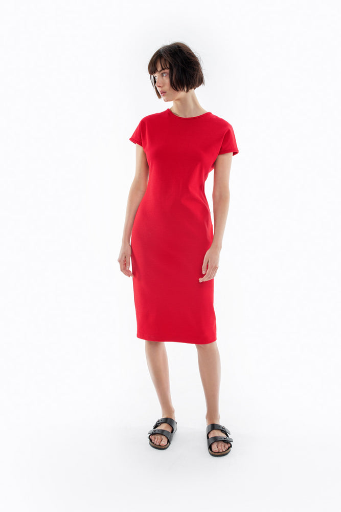 Shell Dress - Scarlet