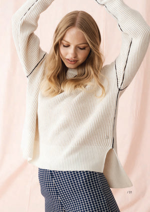 Maxine Rib Sweater Oatmeal