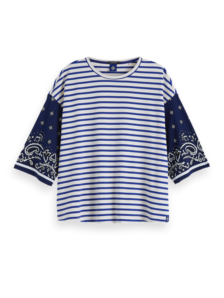 Load image into Gallery viewer, 3/4 Sleeve Top - Blue
