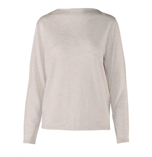 Load image into Gallery viewer, Clarissa Merino Boatneck - Grey Melange