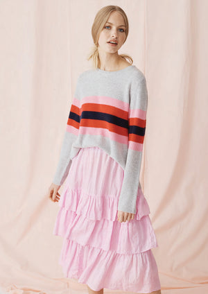 Load image into Gallery viewer, Phoenix Stripe Sweater Ash/Navy