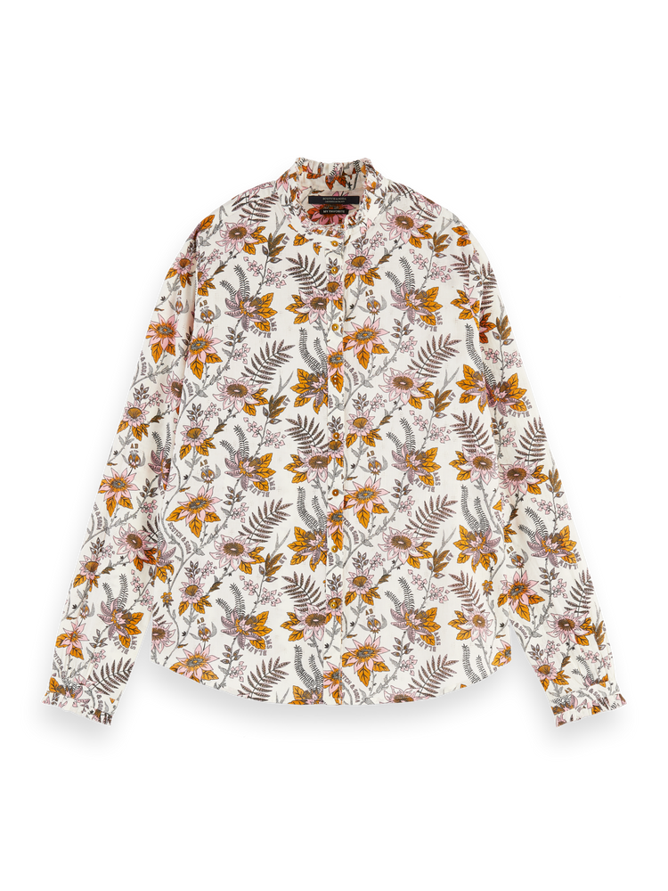 All-Over Printed Blouse - White