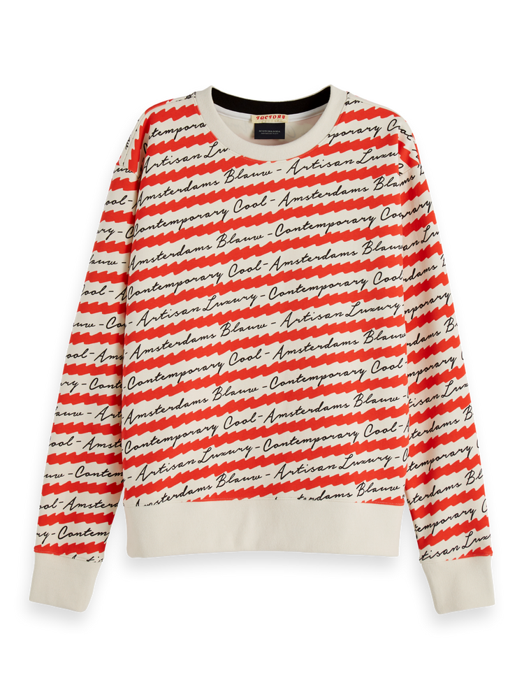 All-Over Printed Sweater