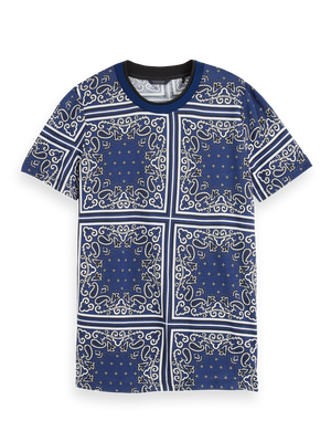 All-Over Printed T-Shirt - Blue