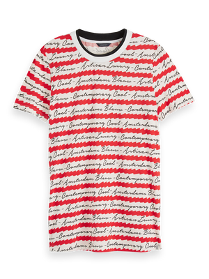 All-Over Printed T-Shirt - Red