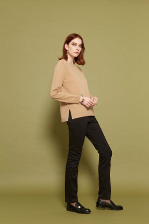 Load image into Gallery viewer, Alessia Cashmere Crew - Camel