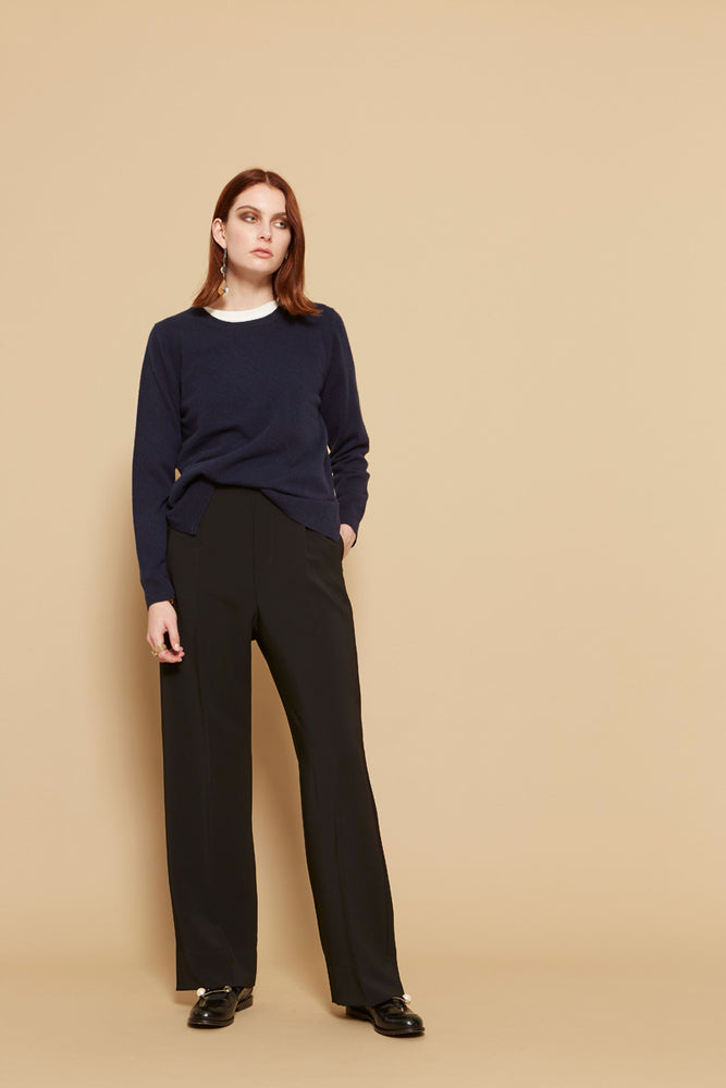 Alessia Cashmere Crew - French Navy