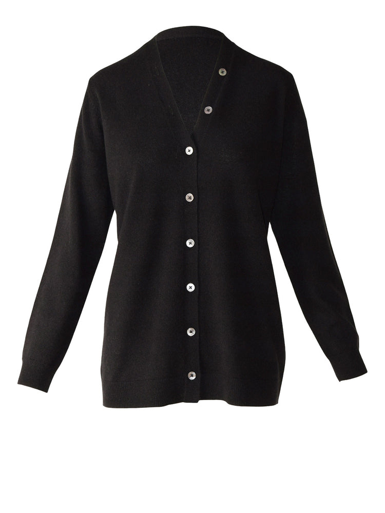Load image into Gallery viewer, Ilaria Cashmere Cardi - Black