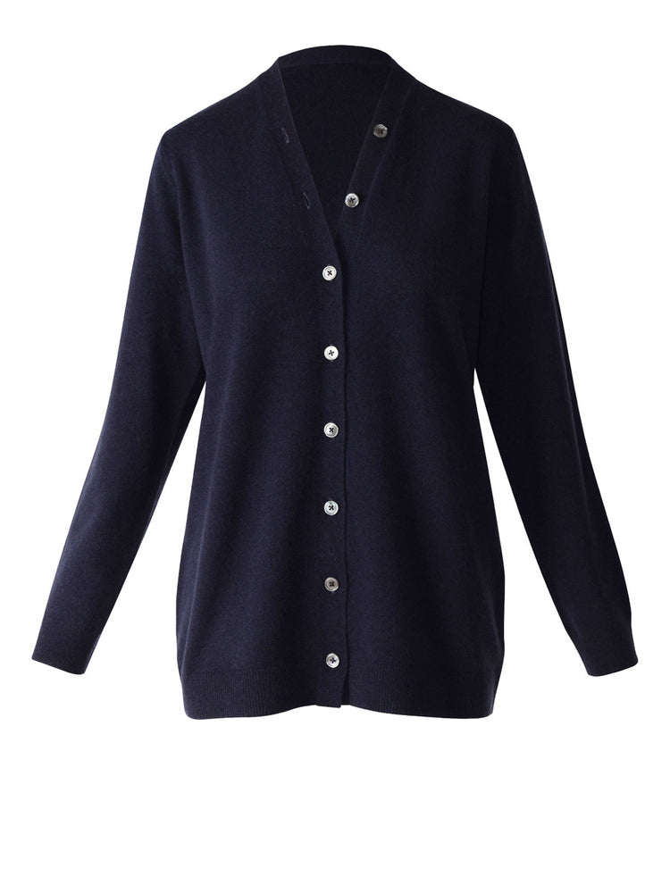 Load image into Gallery viewer, Ilaria Cashmere Cardi - French Navy