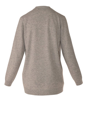 Load image into Gallery viewer, Ilaria Cashmere Cardi - Grey Marle