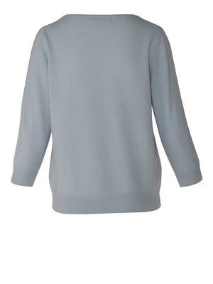 Viola Cashmere Sweater - Crystal Blue