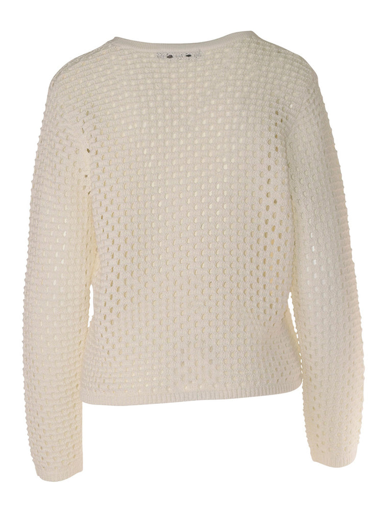 Load image into Gallery viewer, Verde Crochet Jumper - French Linen