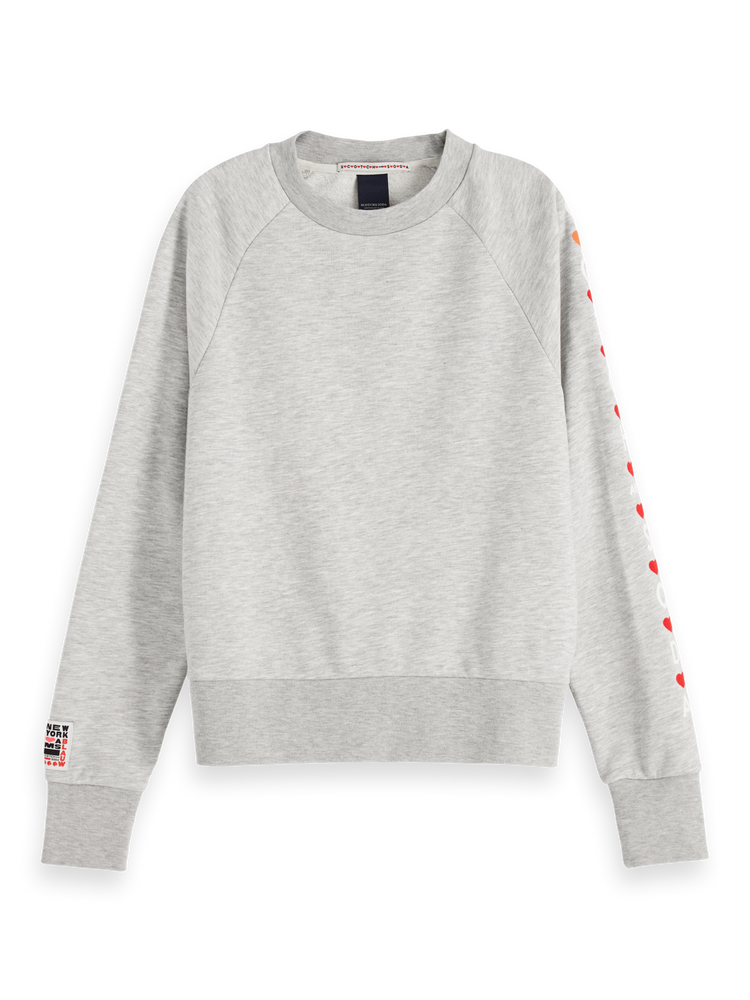 Crew Neck Artwork Sweater - Red