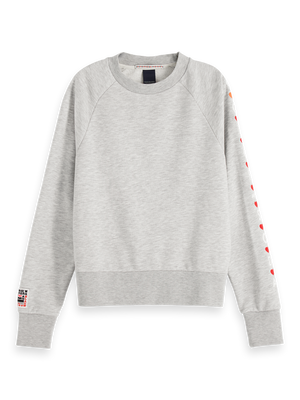 Crew Neck Artwork Sweater - Grey