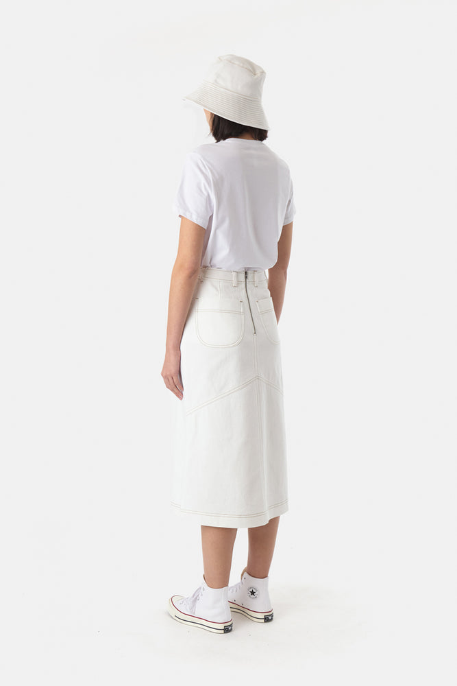 Load image into Gallery viewer, Denim Skirt - Ivory