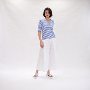 Elbow Top - Pacific White stripe