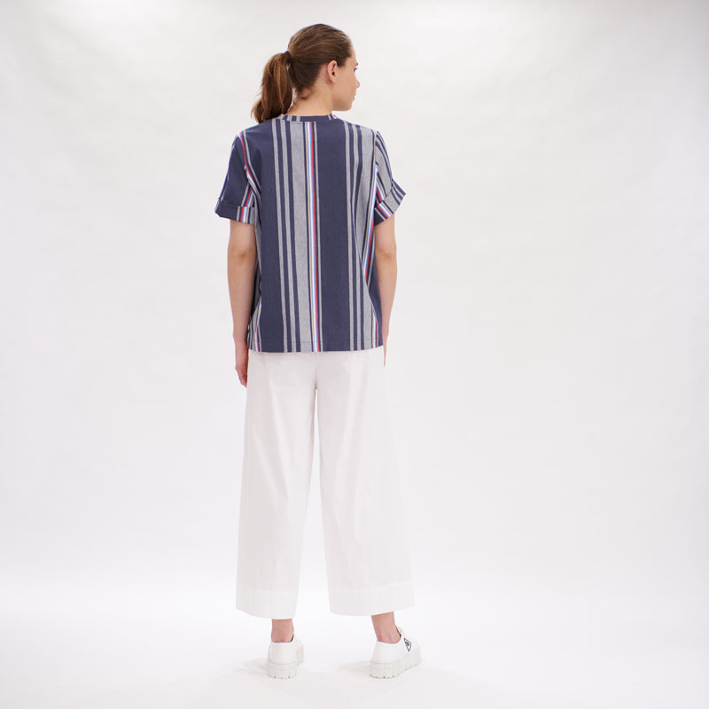 Load image into Gallery viewer, Cuff T - Indigo White