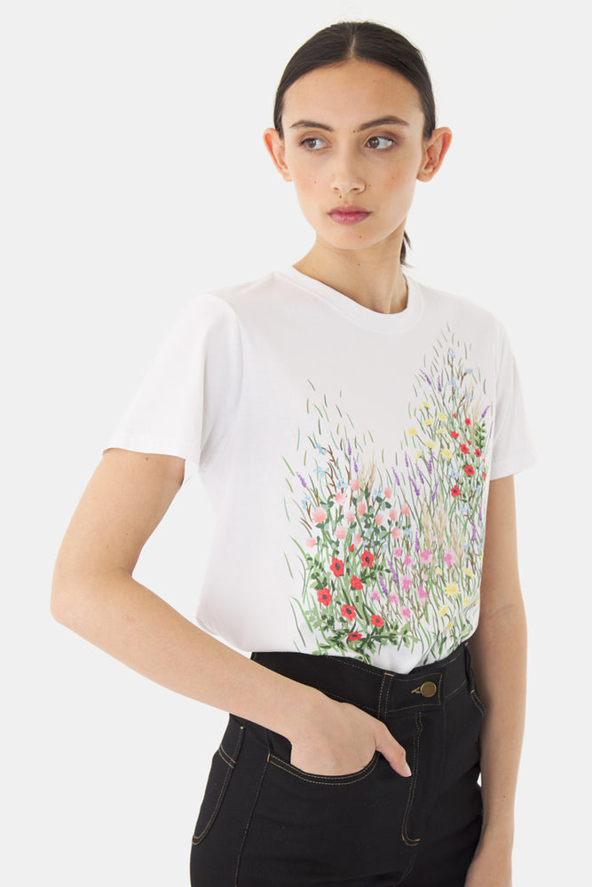 Flowerbed t-shirt - White