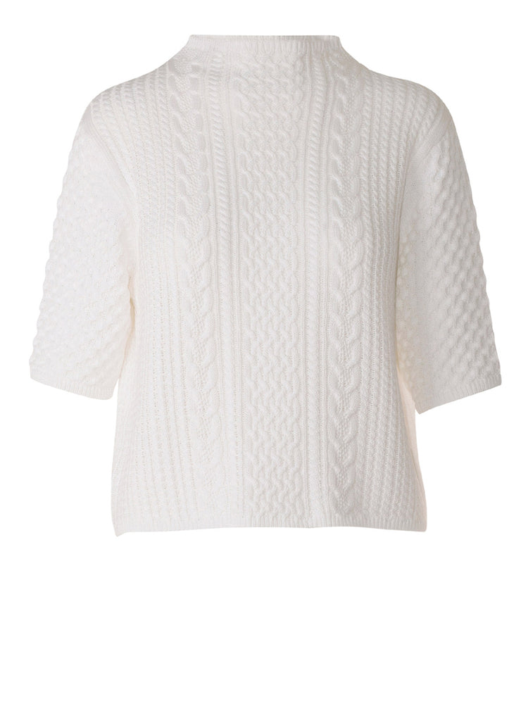 Darcy Cable Tee - Whitewash