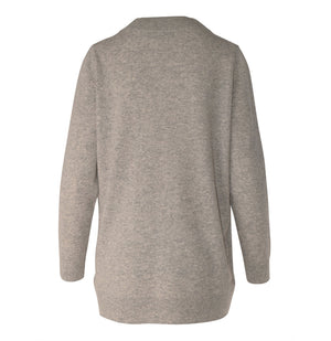 Load image into Gallery viewer, Marta Cashmere V Neck - Grey Marle