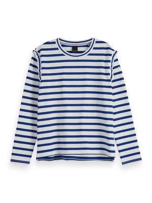 Load image into Gallery viewer, Striped Top - Blue
