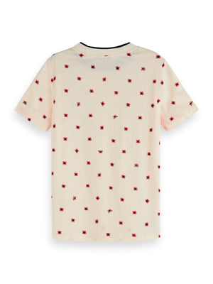 Load image into Gallery viewer, Allover Printed short sleeved tee