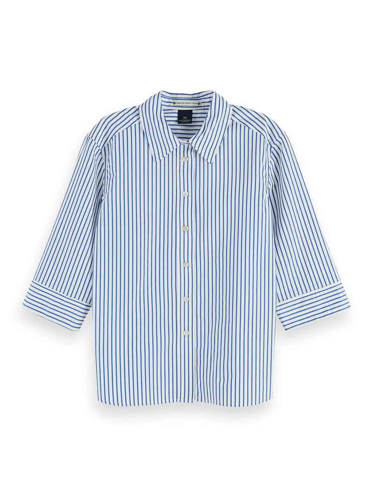 Striped shirt with 3/4 sleeves