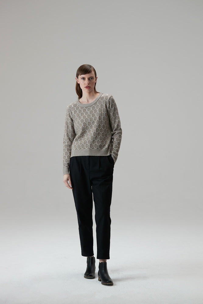 Load image into Gallery viewer, Honeycomb Jumper - Black-Gunmetal