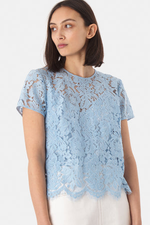 Lace Top - Blue