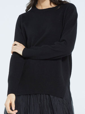Load image into Gallery viewer, Alexia Cashmere Crew - Jet Black