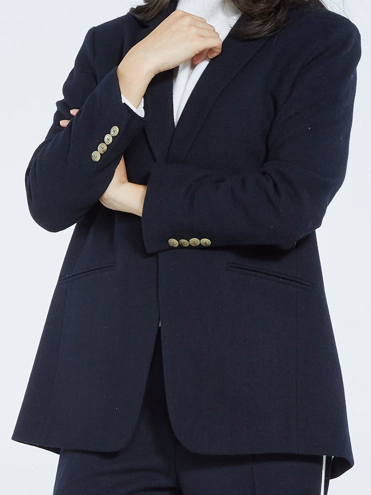 Load image into Gallery viewer, The Boss Wool Blazer - Navy