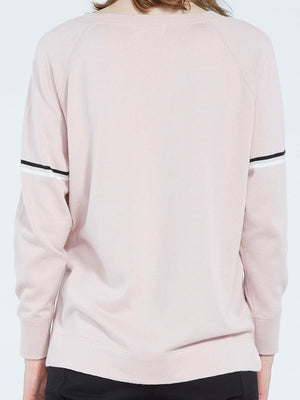 Natalia Stripe Crew Neck - Rose