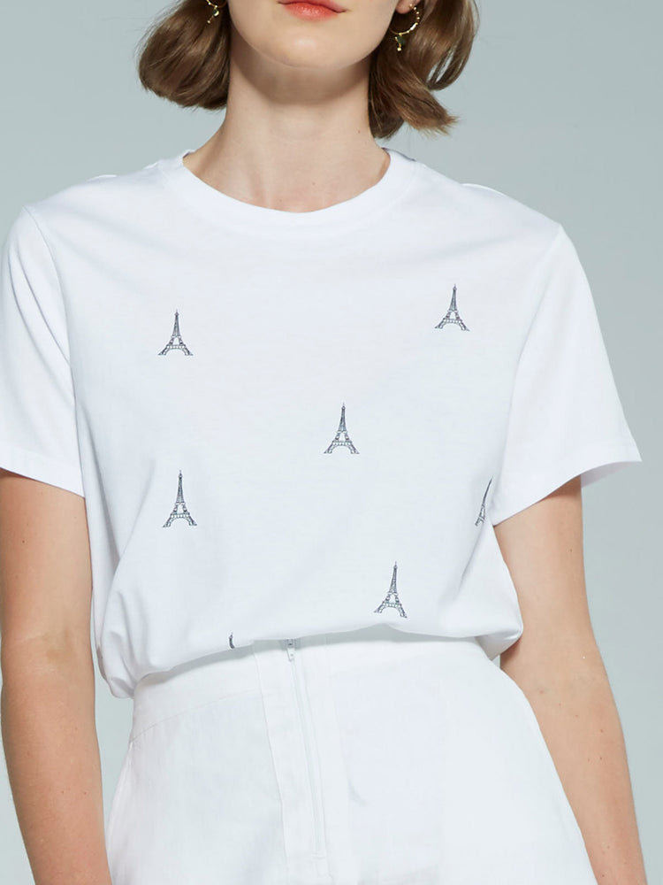 Load image into Gallery viewer, Eiffel Tee - White