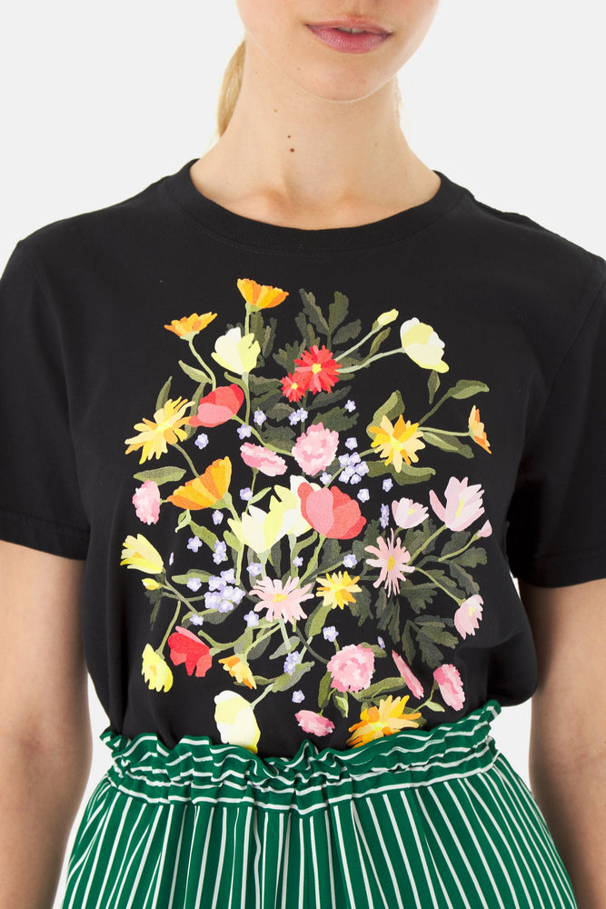 Poppies t-shirt black