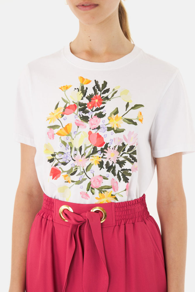 Load image into Gallery viewer, Poppies t-shirt white