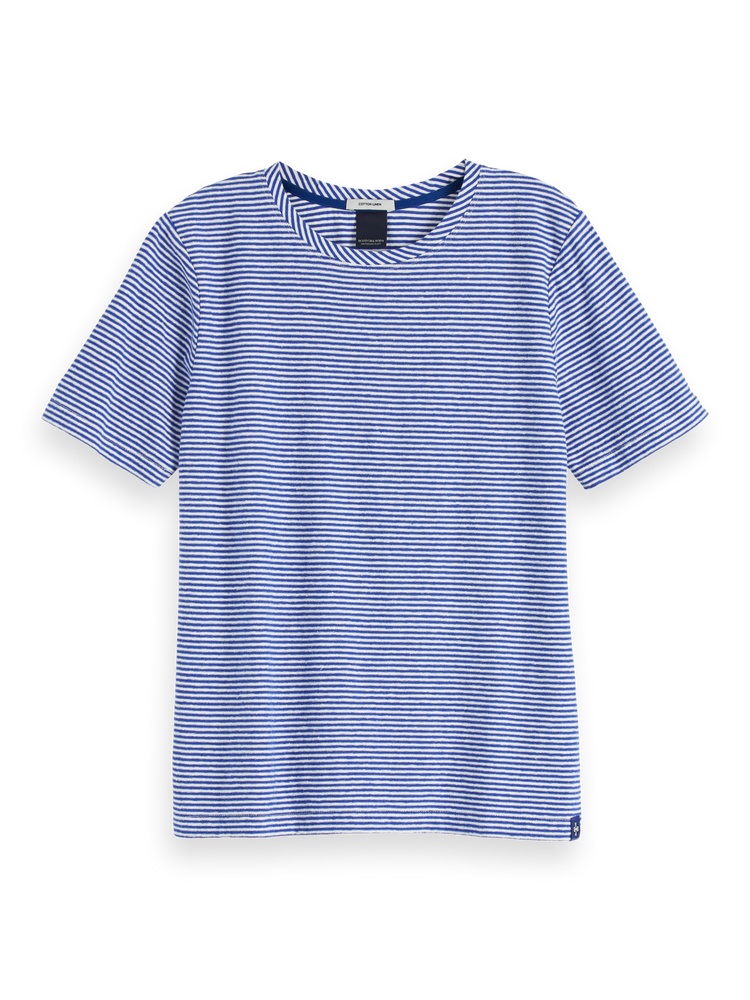 Short Sleeved Linen Blend T-Shirt