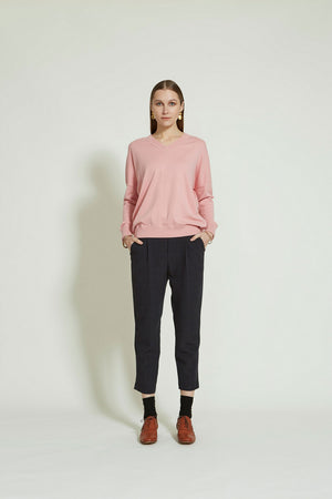 Load image into Gallery viewer, Brixton Sweater - Peony Pink