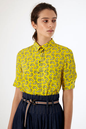 Load image into Gallery viewer, Paisley Shirt - Black