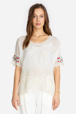 Verena Dolman Top - White