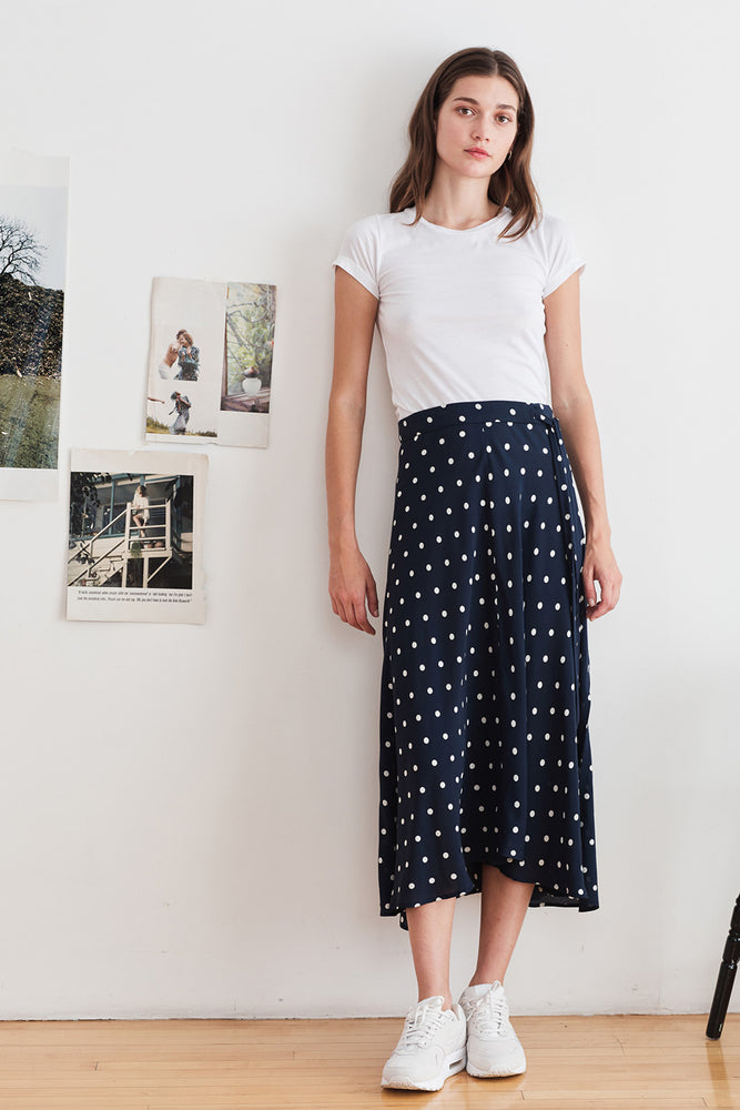 Load image into Gallery viewer, Olive Skirt - Polka Dot