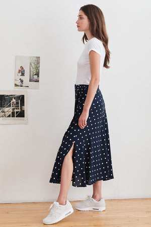 Olive Skirt - Polka Dot