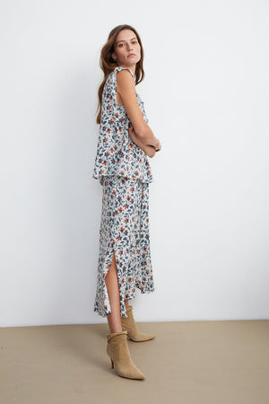 Load image into Gallery viewer, Swan skirt - Mimosa print